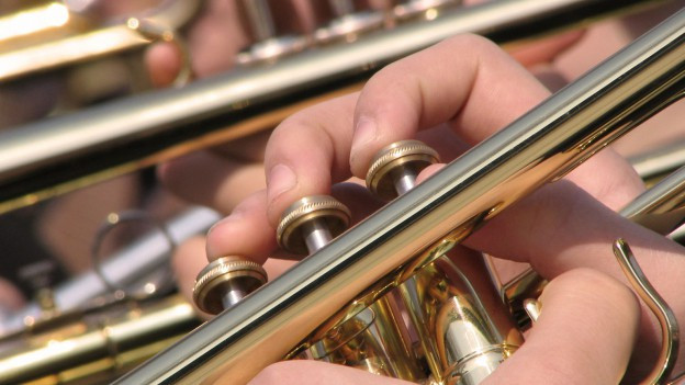 Musicists che sunan instruments a flad da sturs