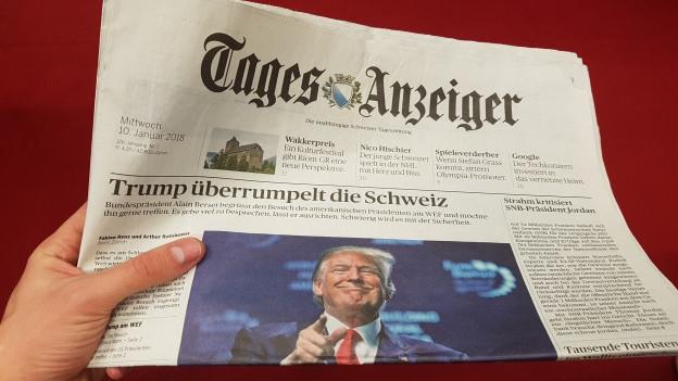 La visita da Trump al WEF procura era en las gasettas per lingias grassas.