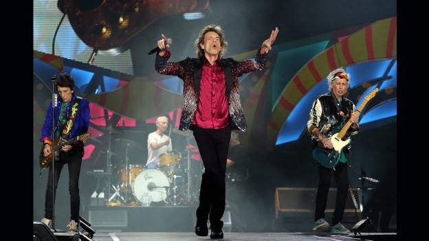 Ils Rolling Stones durant in concert