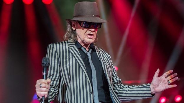 Udo Lindenberg durant in concert