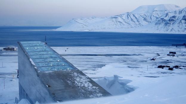 L'entrada da l'arca Noa dallas semenzas sin l'insla Spitzbergen en la Norvegia