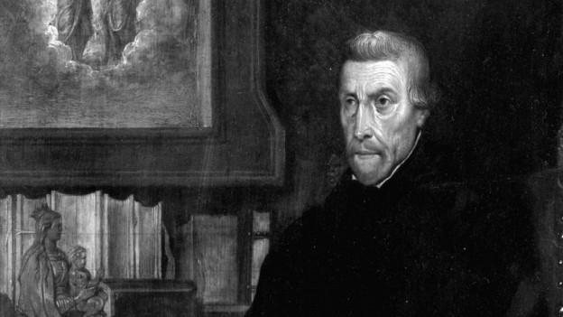 Petrus Canisius in pader dals Jesuits ch'ha pastorà a Friburg ed era in cumpogn da Ignazius da Loyola.