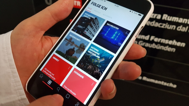 Sin l'app Flipboard pon ins era installar la pagina dad RTR.ch