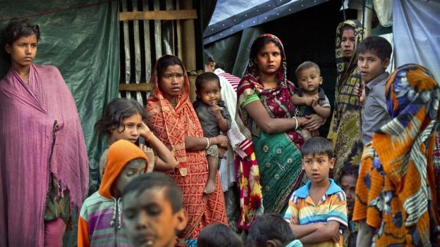 Ina famiglia Rohingya.