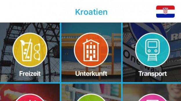 L'app «App ins EU-Ausland».
