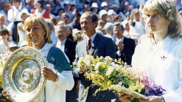 Martina Navràtilovà ha era gadagnà 1987 Wimbledon encunter Steffi Graf.