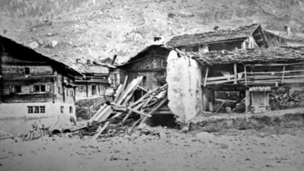 Val s. Pieder devastà da bovas e auas grondas l'onn 1868