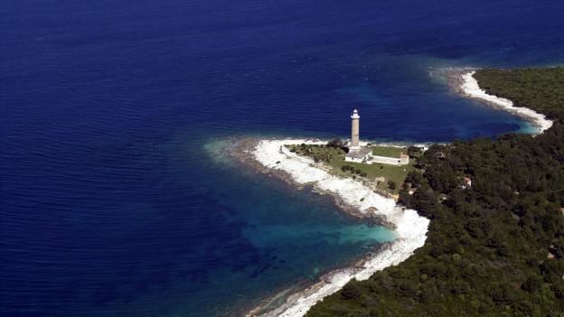 Vista sin ina costa en Croazia.