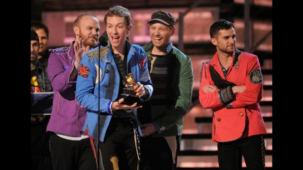 Coldplay durant ils Grammy Awards 2009