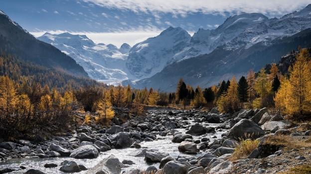 in di da bellezza en la Val roseg