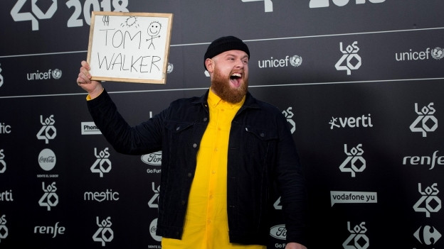 Tom Walker durant ils LOS40 Music Awards