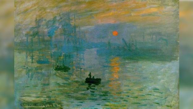 «Impression soleil levant» da Claude Monet.