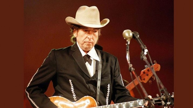 Bob Dylan durant in concert l'onn 1996