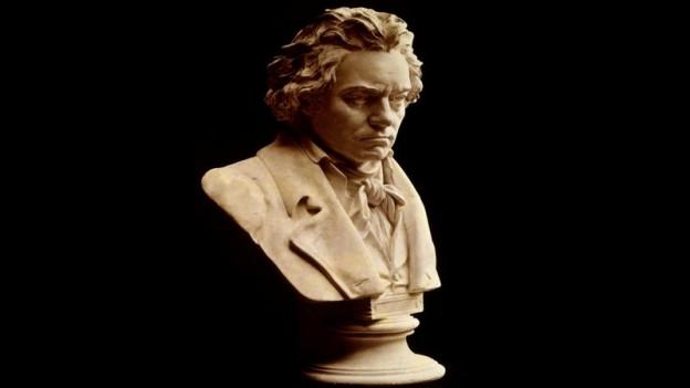 Mesa statua da Ludwig van Beethoven, creà da Hugo Hagen.