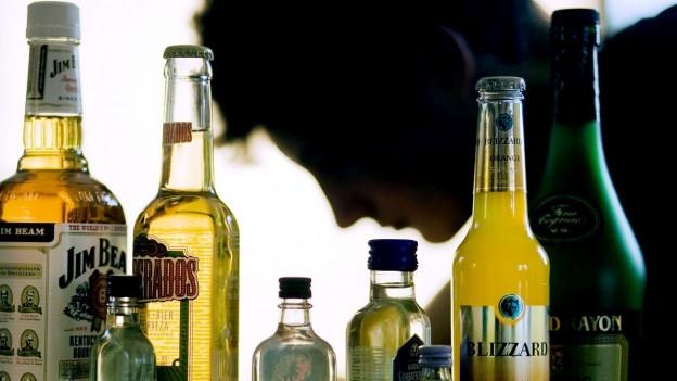 Buttiglias cun bavrondas alcoholicas.