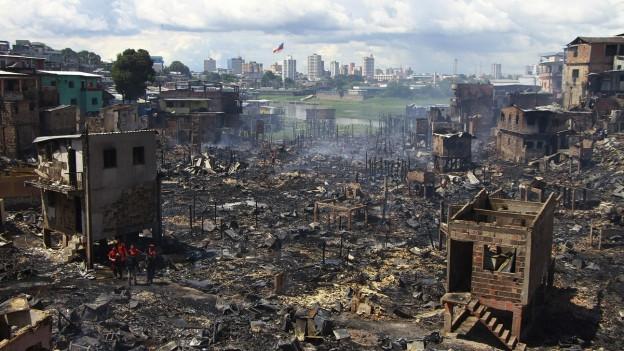 L'incendi ha destruì ina gronda part dal quartier dad Educandos.