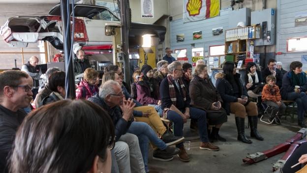 Fotografia dal public en la garascha Oberalp a Sedrun