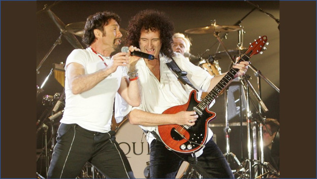 Queen and Paul Rodgers durant in concert l'onn 2005