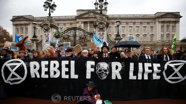 Protests da «Extinction Rebellion» december 2018 a Londra
