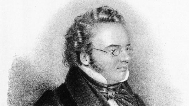 Litografia da Franz Schubert enturn 1828.