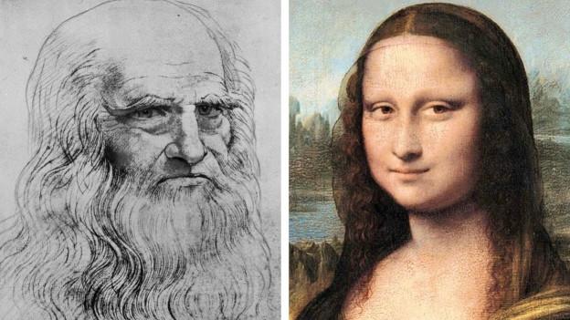 Leonardo da Vinci e ses purtret renumà da la Mona Lisa