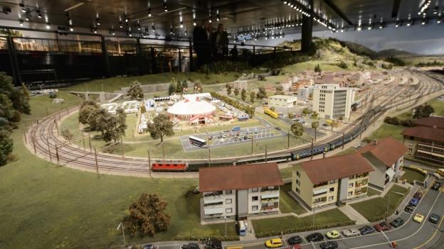 Il museum da viafier da model a Granges-Paccots (FR).