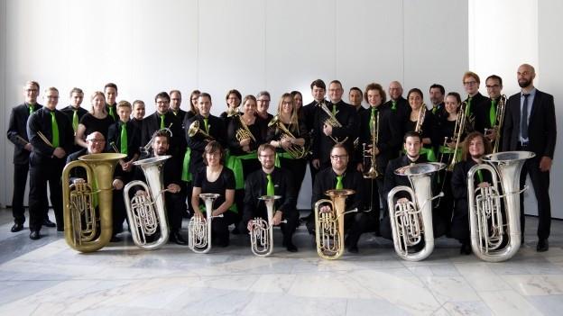 Ina fotografia da la Brass Band Sursilvana