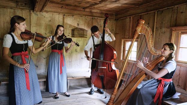 musica tradiziunala cun instruments a corda