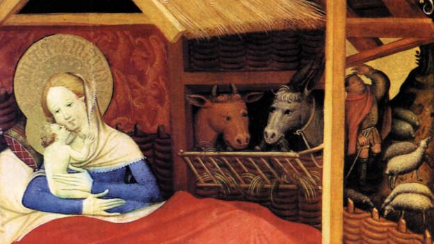 Scena da la naschientscha da Jesus picturada da Conrad von Soest