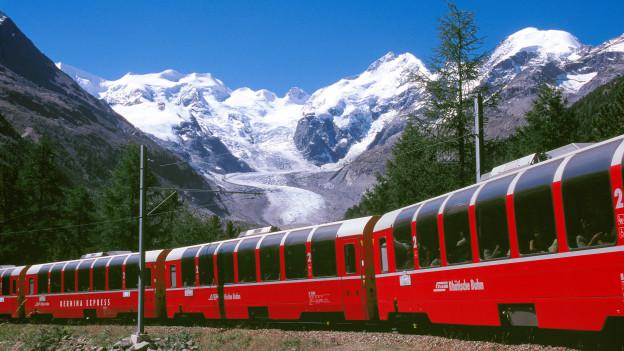 cun il tren tras il Grischun