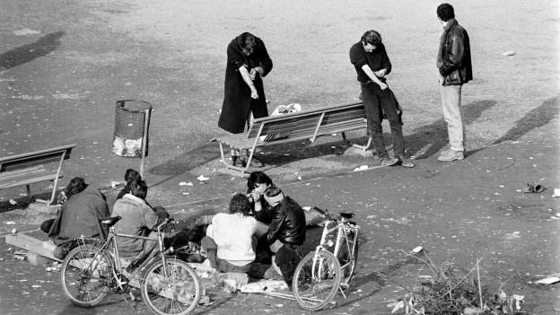 Scenas al Platzspitz il schaner 1990