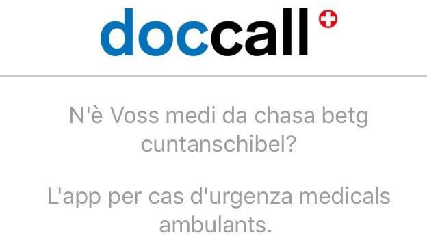 Screenshot da doccall app.