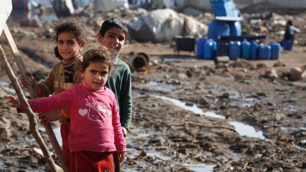 Syrischen Flüchtlingskinder im Libanon.