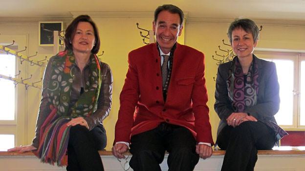 v.l.n.r. Katharina Kilchenmann, Urs Fueter, Annette Keller