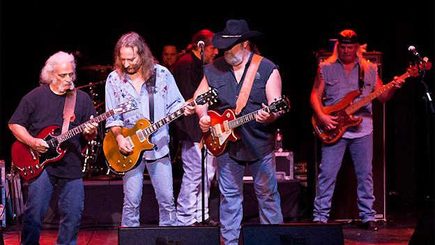Guitar Jam mit Rick Willis, Chris Hicks und Jim Wagner von der Marshall Tucker Band.