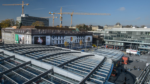 Die Baustelle in Bern.