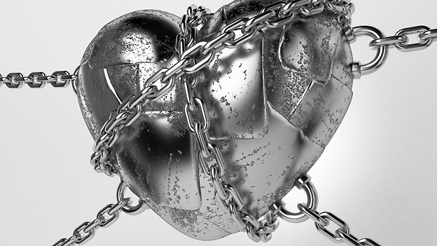 Herz in Ketten, wenn gesellschaftliche Normen eine Liebesbeziehung als inakteptabel betrachten.