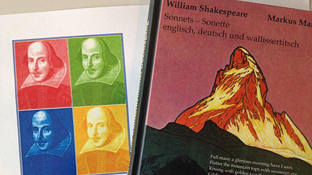 Shakespeare von Warhol und Buchcover von Markus Marti