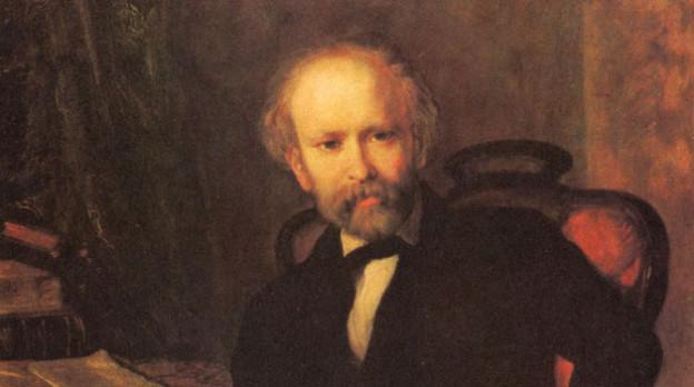 Friedrich Hebbel, gemahlt von Carl Rahl.