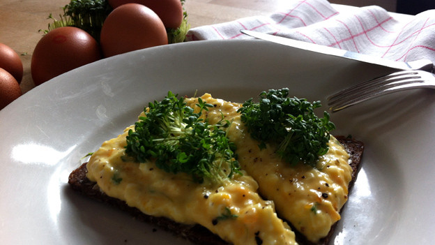 Ist einfach zu machen und schmeckt herrlich gut: Das Eier-Sandwich.