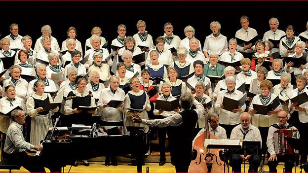 Der gemischte Bündner Seniorenchor Canziano! in Aktion.