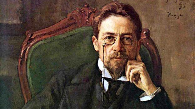 Anton Tschechow in Nizza. Ein Porträt (1898) von Ossip Bras.