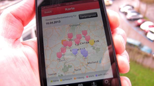 Pollen-Apps liefern Vorhersagen und Pollenwarnfunktionen auf dem Smartphone.