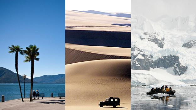 Süd, südlicher, Südpol: Mit jedem Breitenkreis verändern sich Land und Temperaturen.