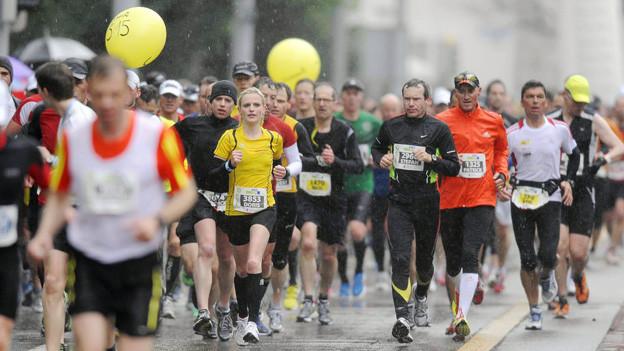 Läufer am letztjährigen Züri-Marathon.