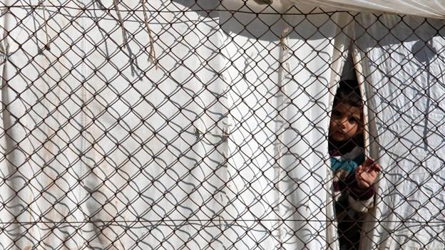 Ein syrischer Junge in einem Flüchtlingslager im türkischen Antakya.