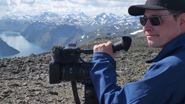 Filmt für ein Regionales Fernsehen: Thierry Gschwind.