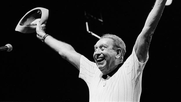 Charles Trenet (1913 - 2011) am Paleo Jazz Festival im Jahre 1996.