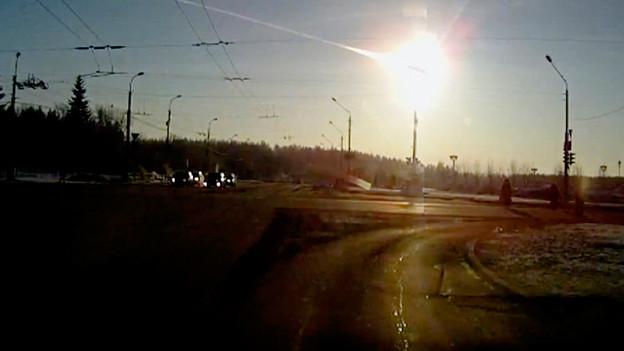 Am 15. Februar 2013 knallte ein Meteorit im russischen Uralgebiet auf die Erde.