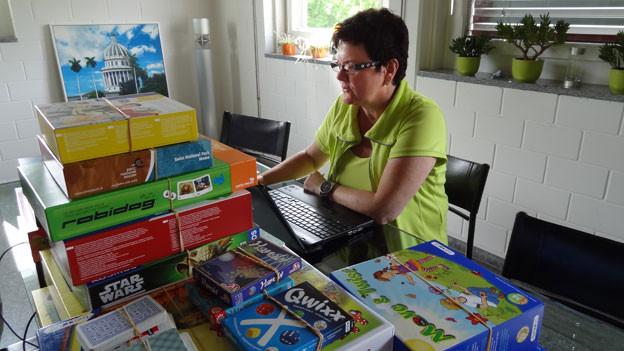 Spielprofi: Monika Hochreutener.
